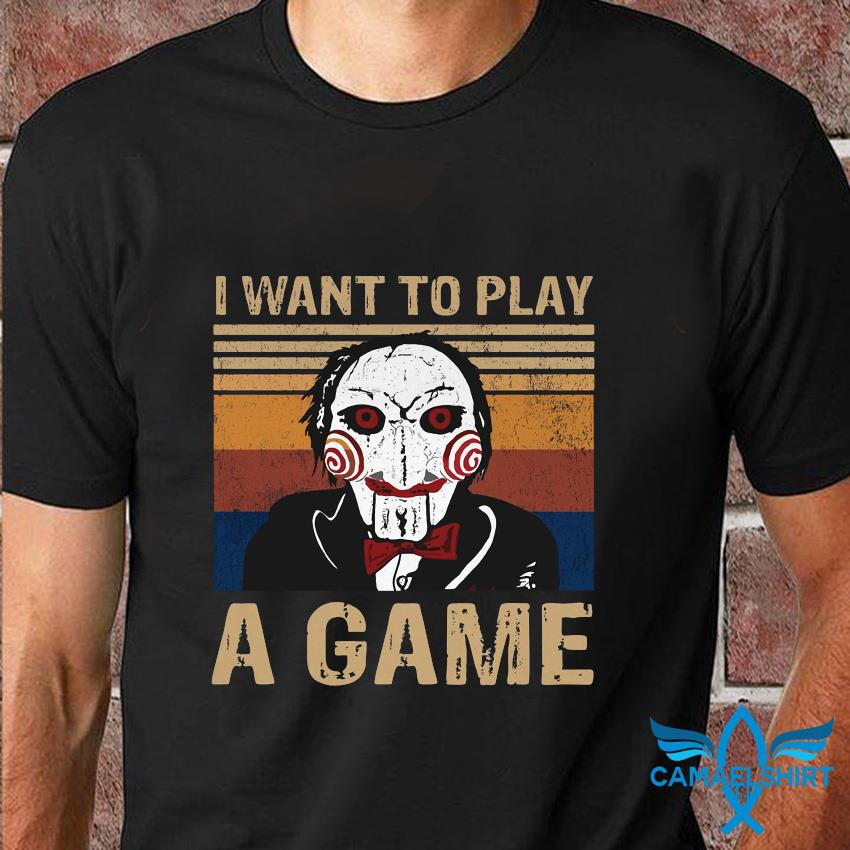 Jigsaw I want to play a game shirt vintage t-shirt