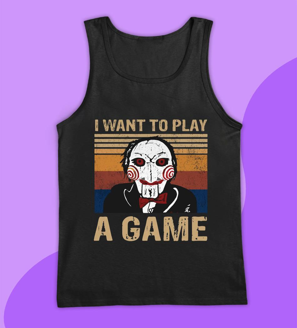 Jigsaw I want to play a game shirt vintage t-s tank top