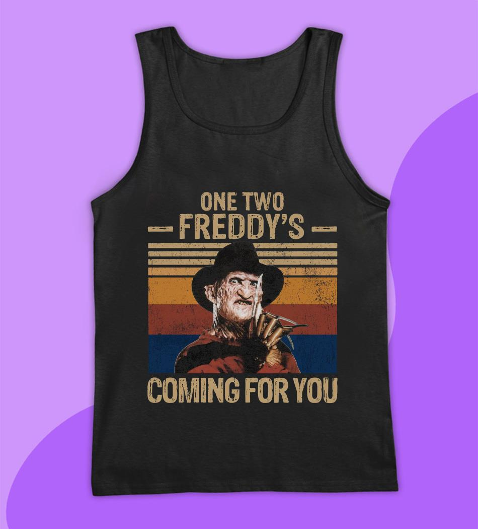 One two Freddys coming for you vintage t-s tank top
