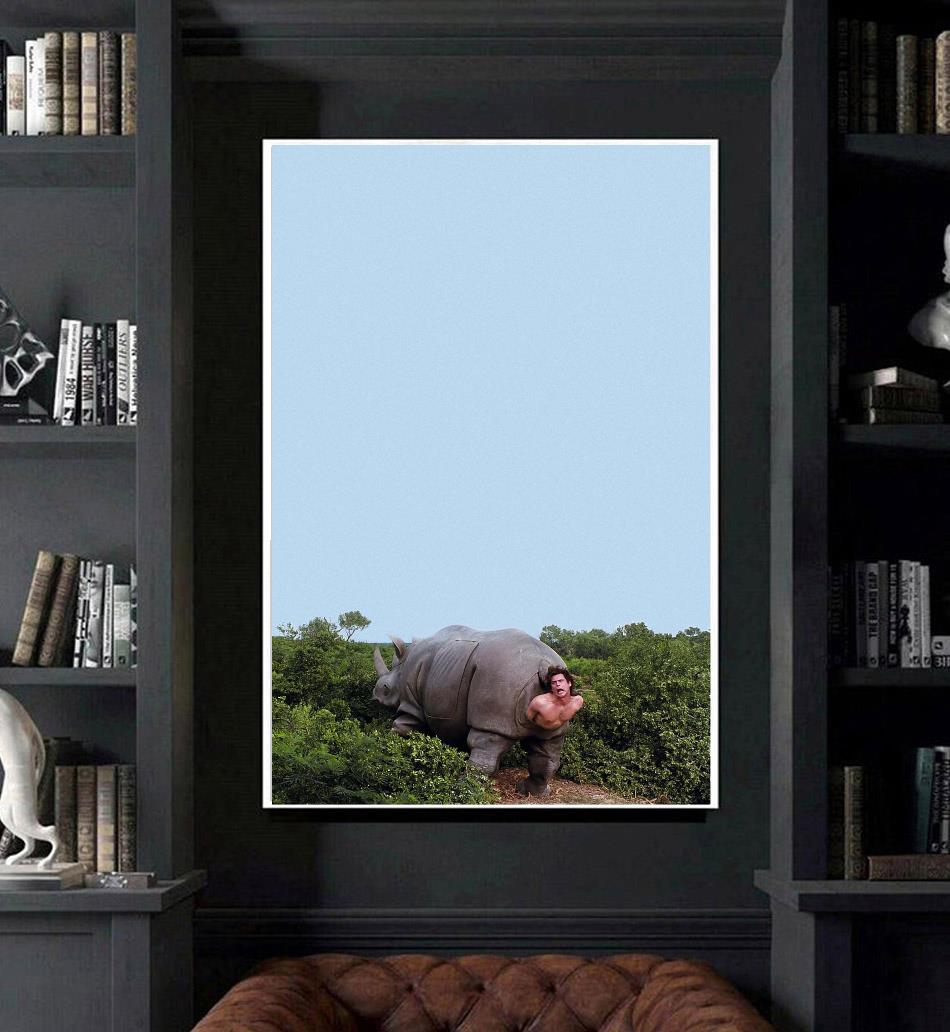 Ace Ventura Rhino pet detective poster art