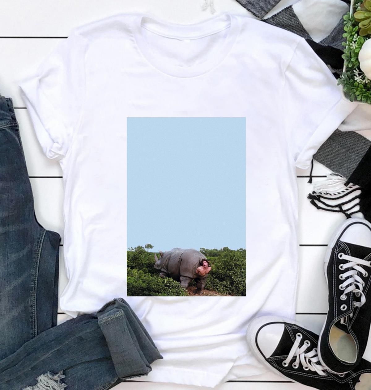 Ace Ventura Rhino pet detective poster t-shirt