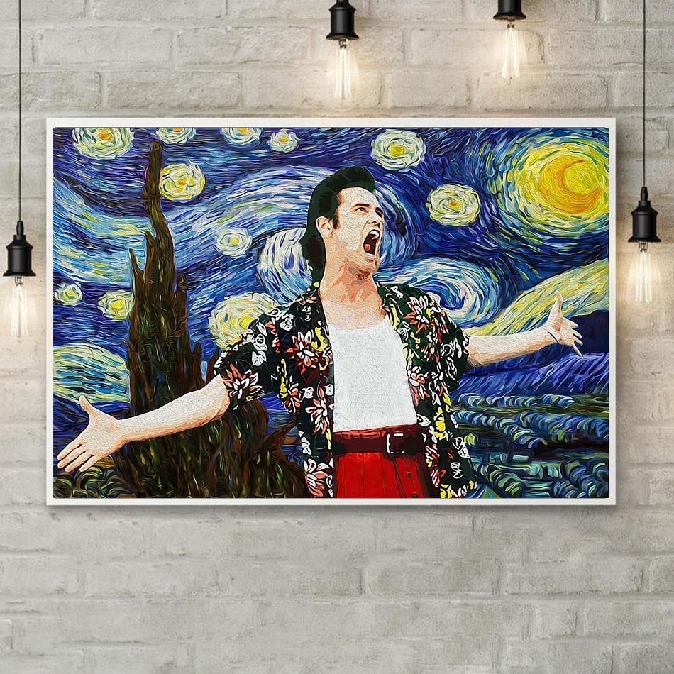 Ace Ventura Starry Night vintage canvas poster