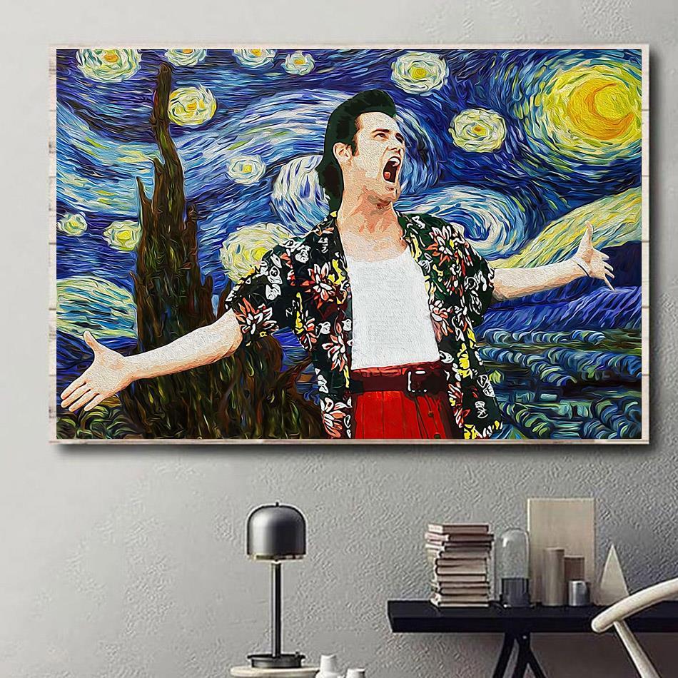 Ace Ventura Starry Night vintage canvas