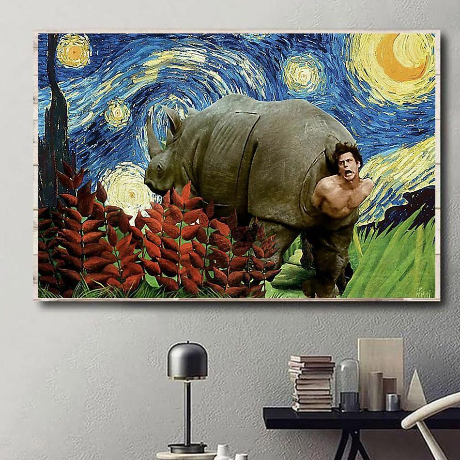 Ace Ventura When Nature Call The Rhino Scene poster
