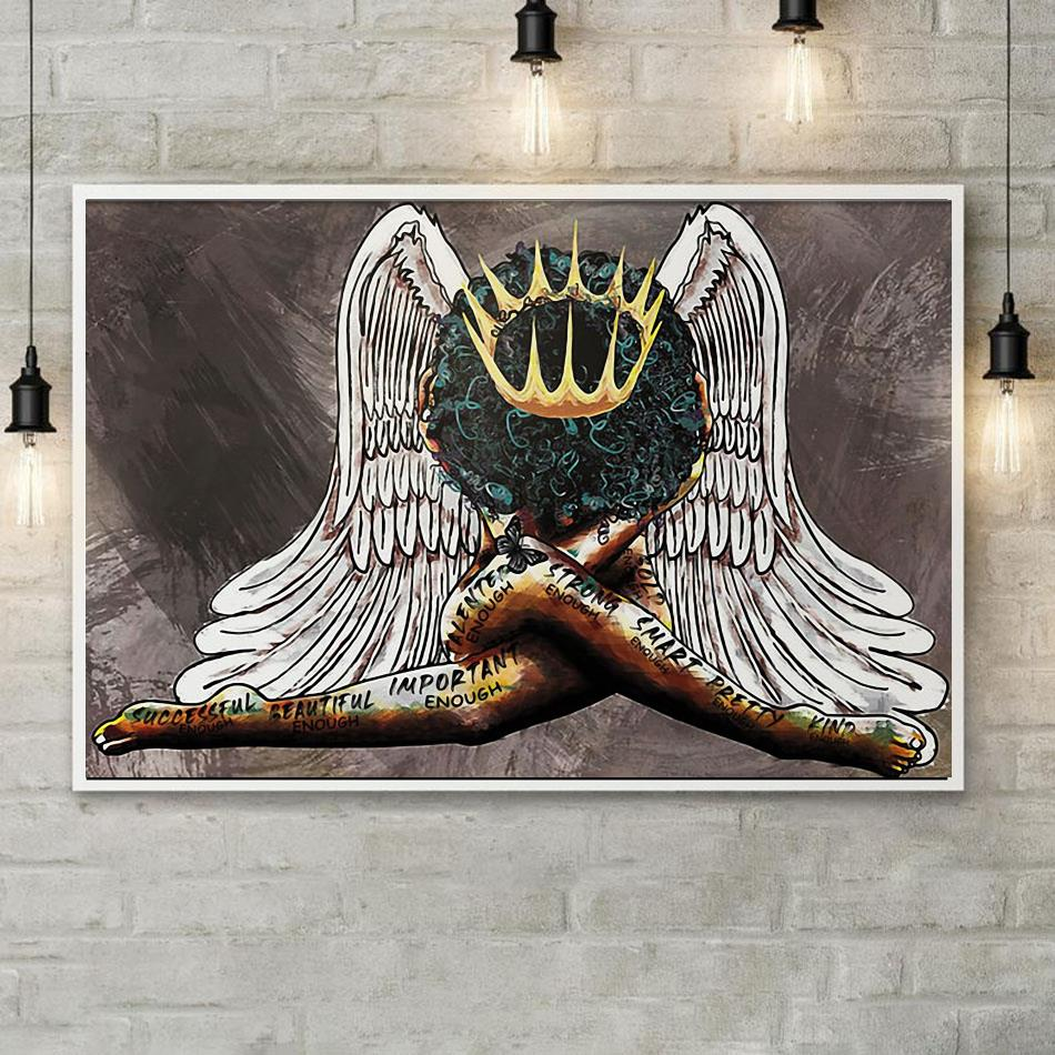 African American portrait poster black queen girl poster poster