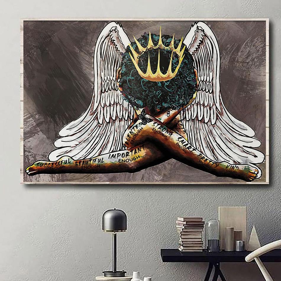 African American portrait poster black queen girl poster