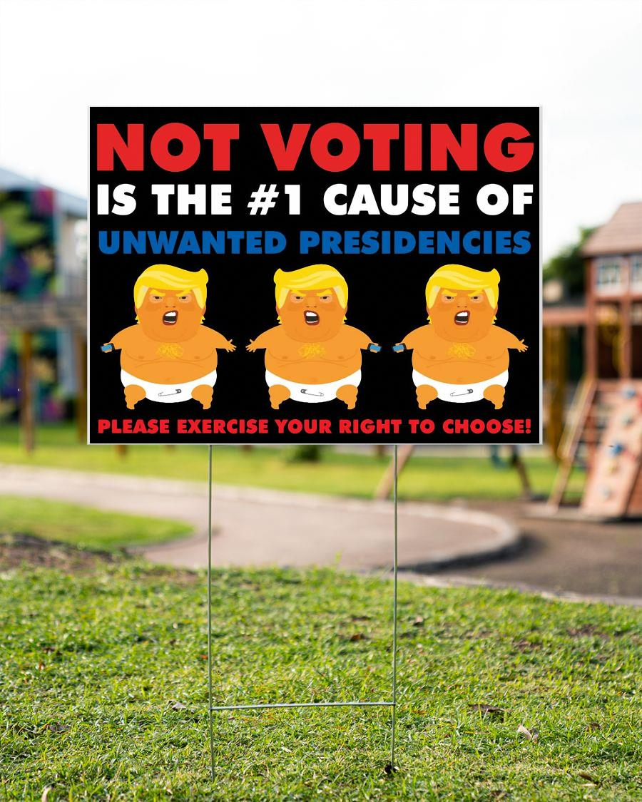 Anti Trump yard side not voting is the number 1 cause of unwanted presidencies garden