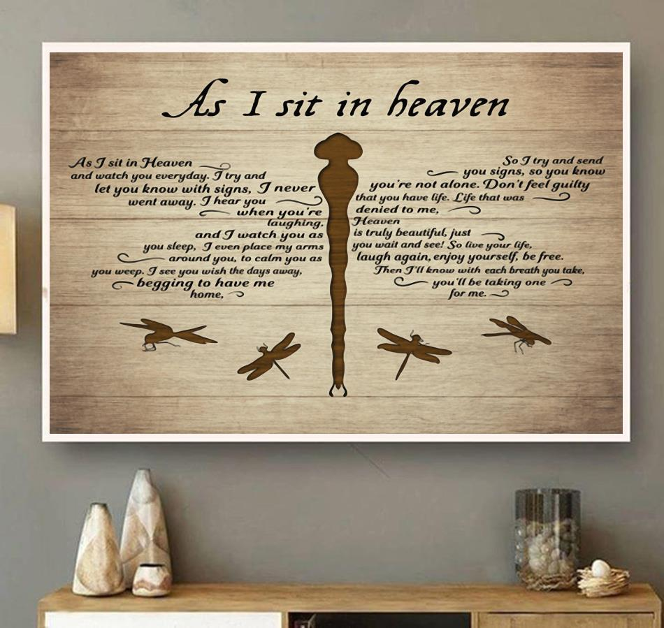As I sit in heaven horizontal canvas wall art