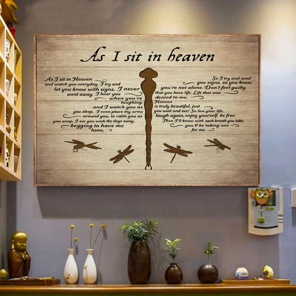 As I sit in heaven horizontal canvas wrapped canvas