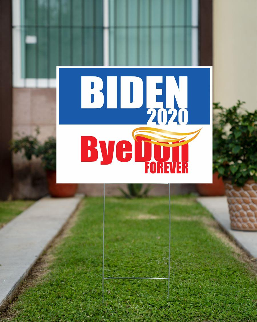 Biden 2020 ByeDon forever yard side anti Trump