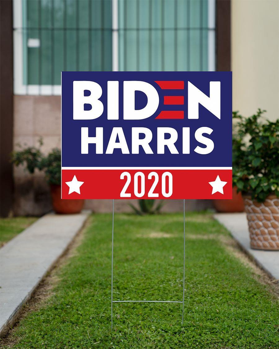Biden and Harris 2020 yard side