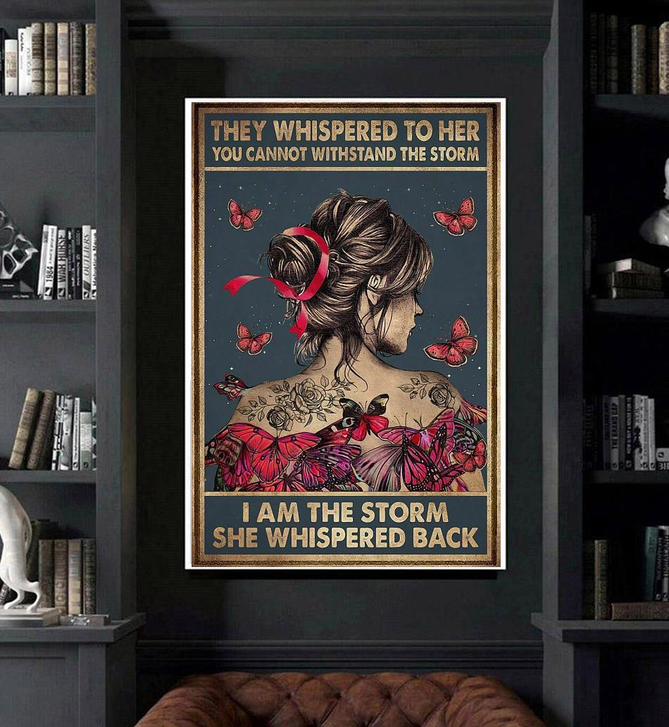 Breast cancer they whispered to her poster art
