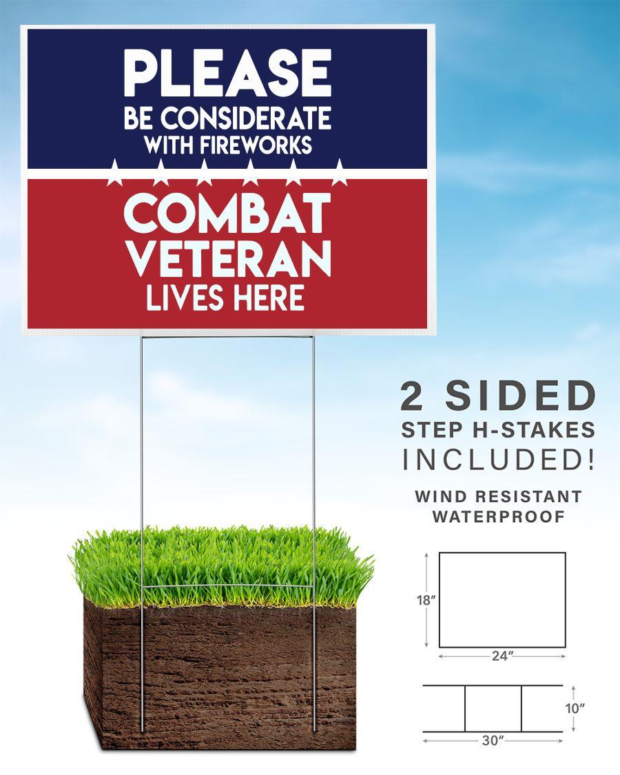 Combat Veteran live here yard side home