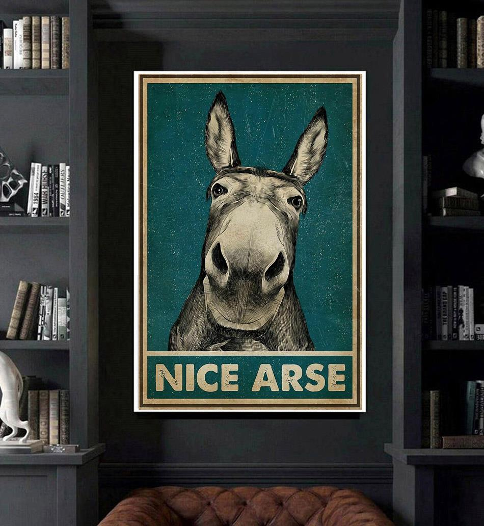 Donkey nice arse vintage poster art