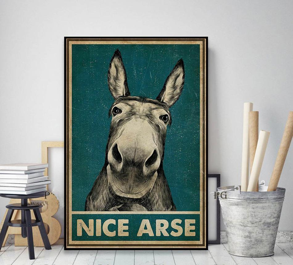 Donkey nice arse vintage poster decor art