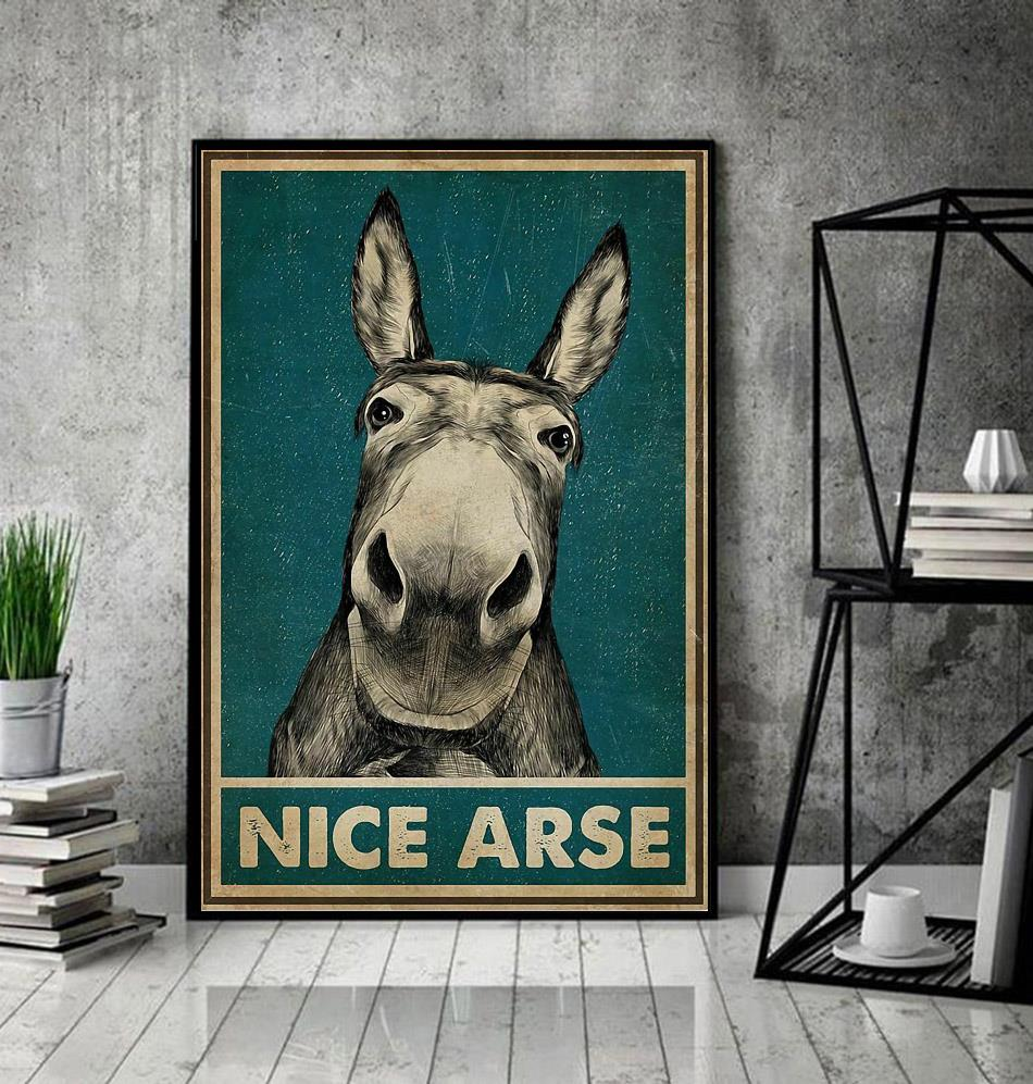 Donkey nice arse vintage poster decor