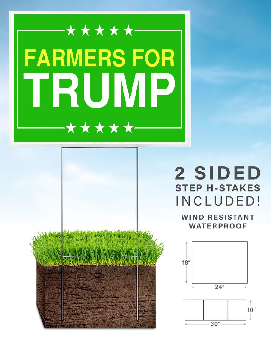 Farmers for Trump 2020 yard sign home
