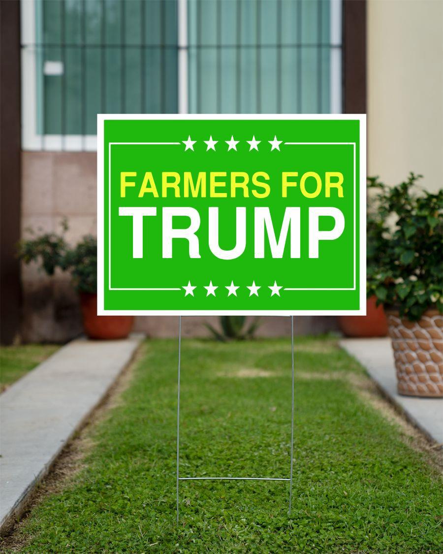 Farmers for Trump 2020 yard sign