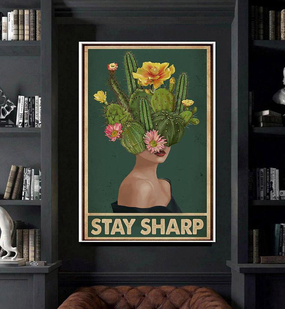 Girl stay sharp mental health poster art