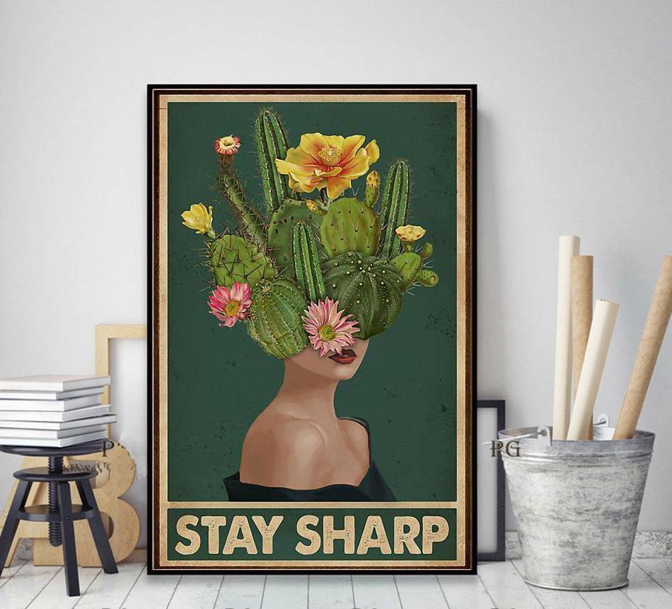 Girl stay sharp mental health poster decor art