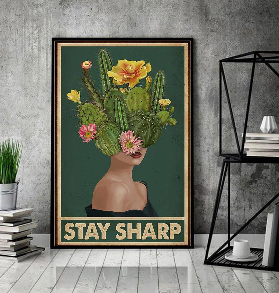 Girl stay sharp mental health poster decor