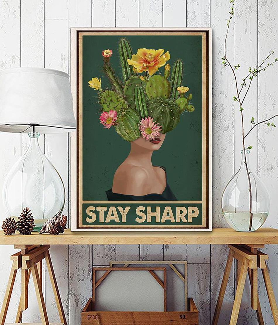 Girl stay sharp mental health poster