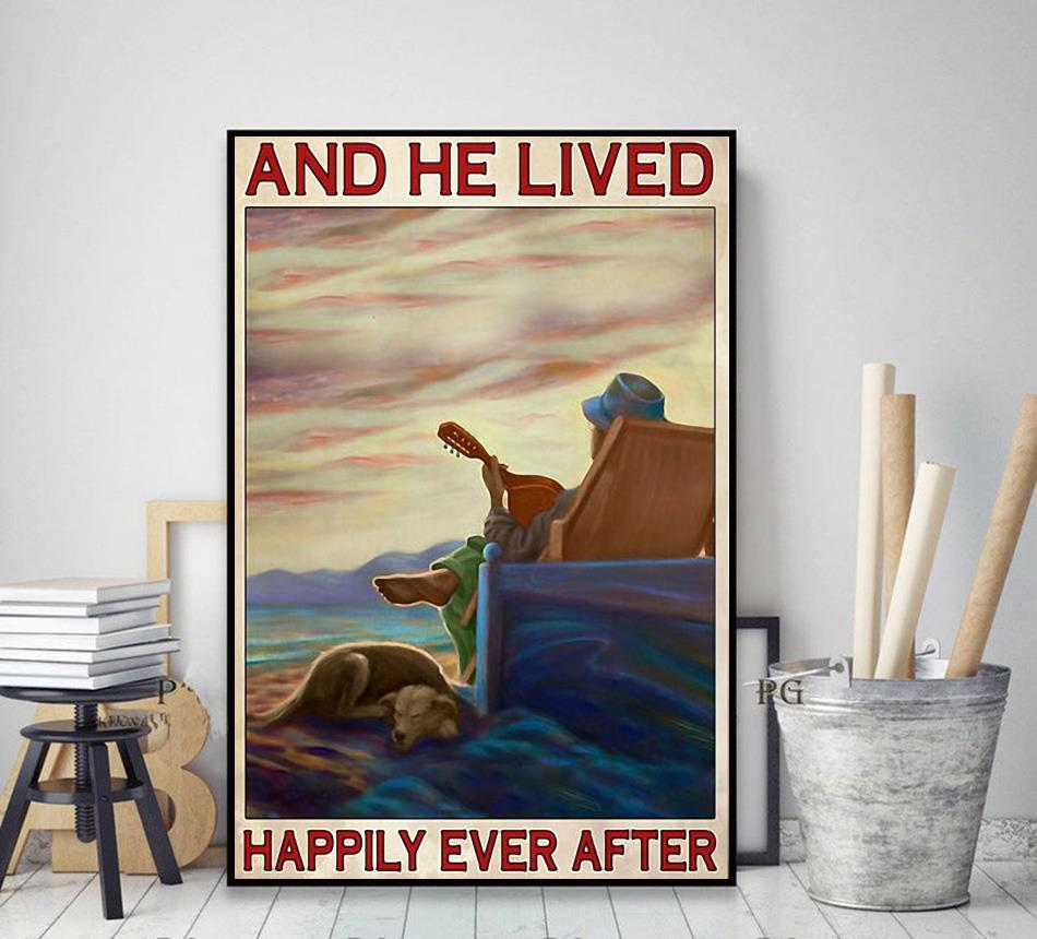 Guitar dog and he lived happily ever after poster