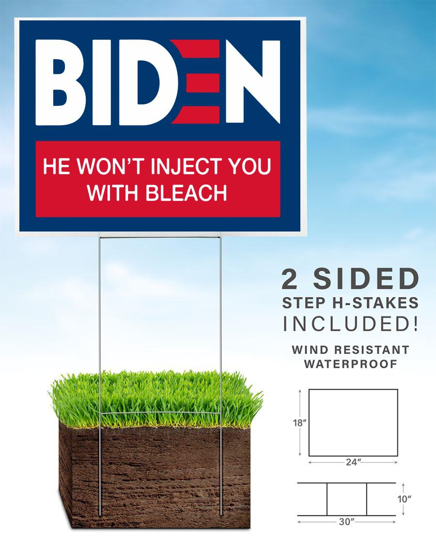 Joe Biden funny anti Trump 2020 yard sign home