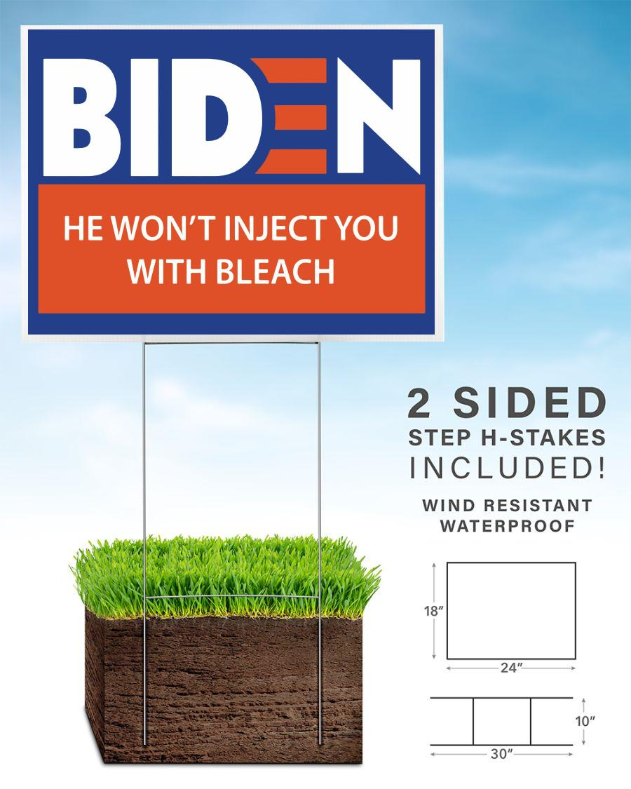 Joe Biden yard side he won't inject you with bleach home