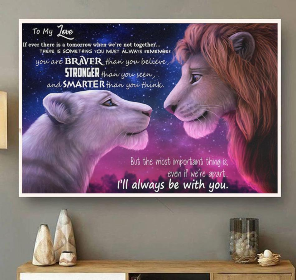 Lion King to my love I will always be with you poster canvas wall art