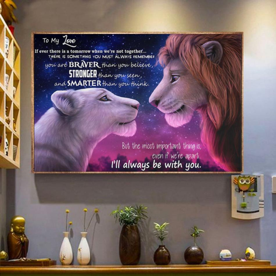 Lion King to my love I will always be with you poster canvas wrapped canvas