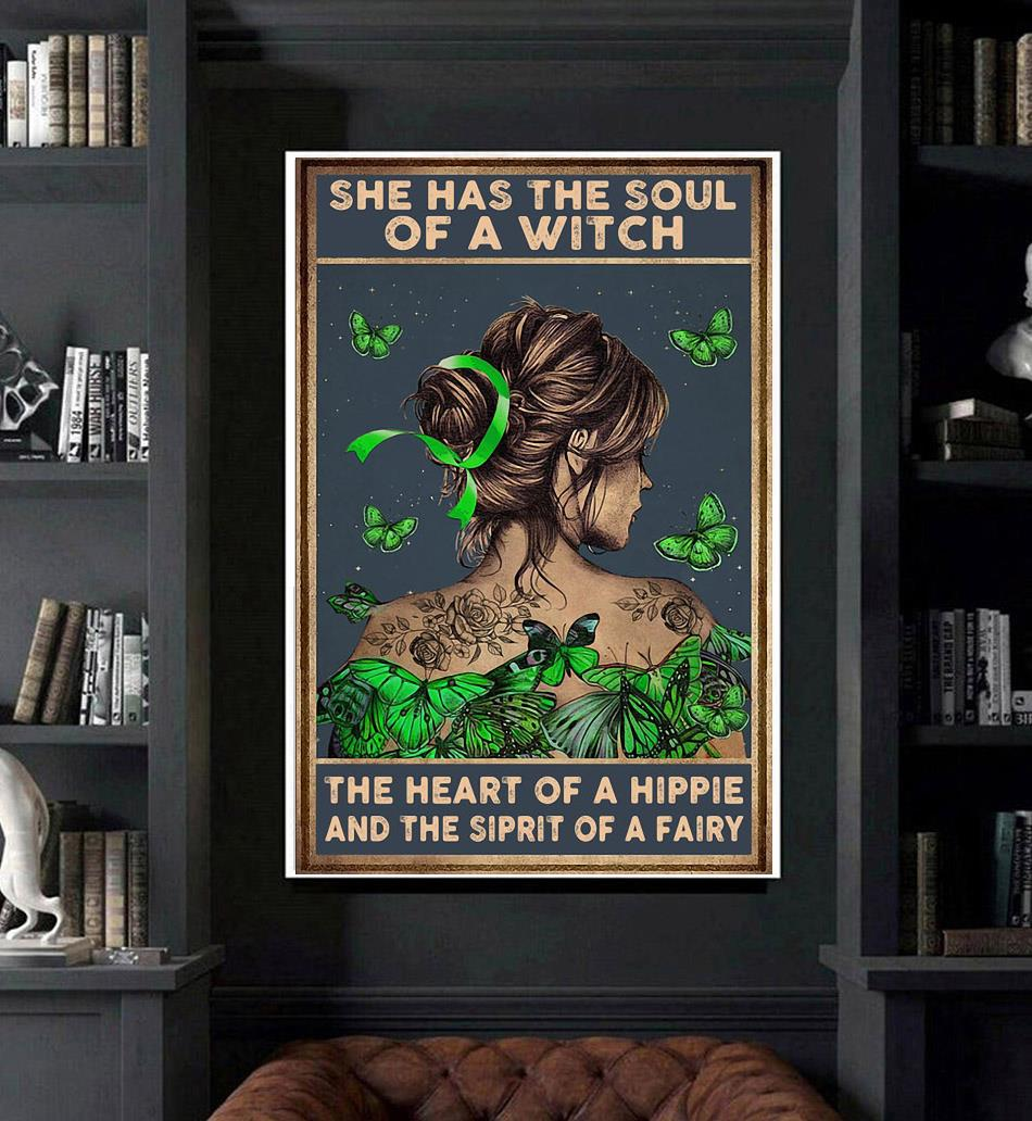 Lymphoma cancer she has the soul of a witch poster art