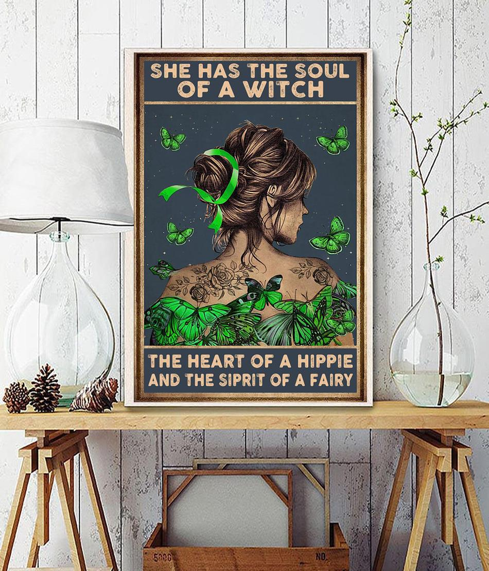 Lymphoma cancer she has the soul of a witch poster