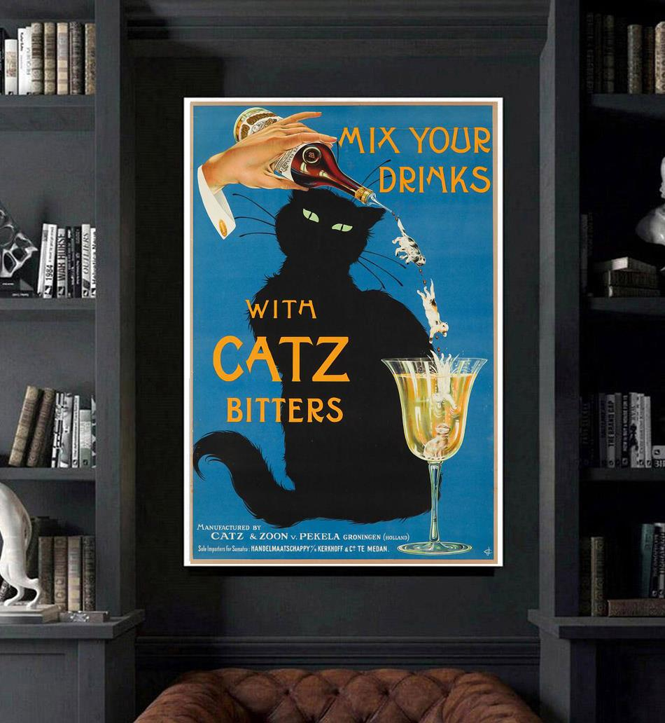 Mix your gin with catz bitters wrapped canvas art