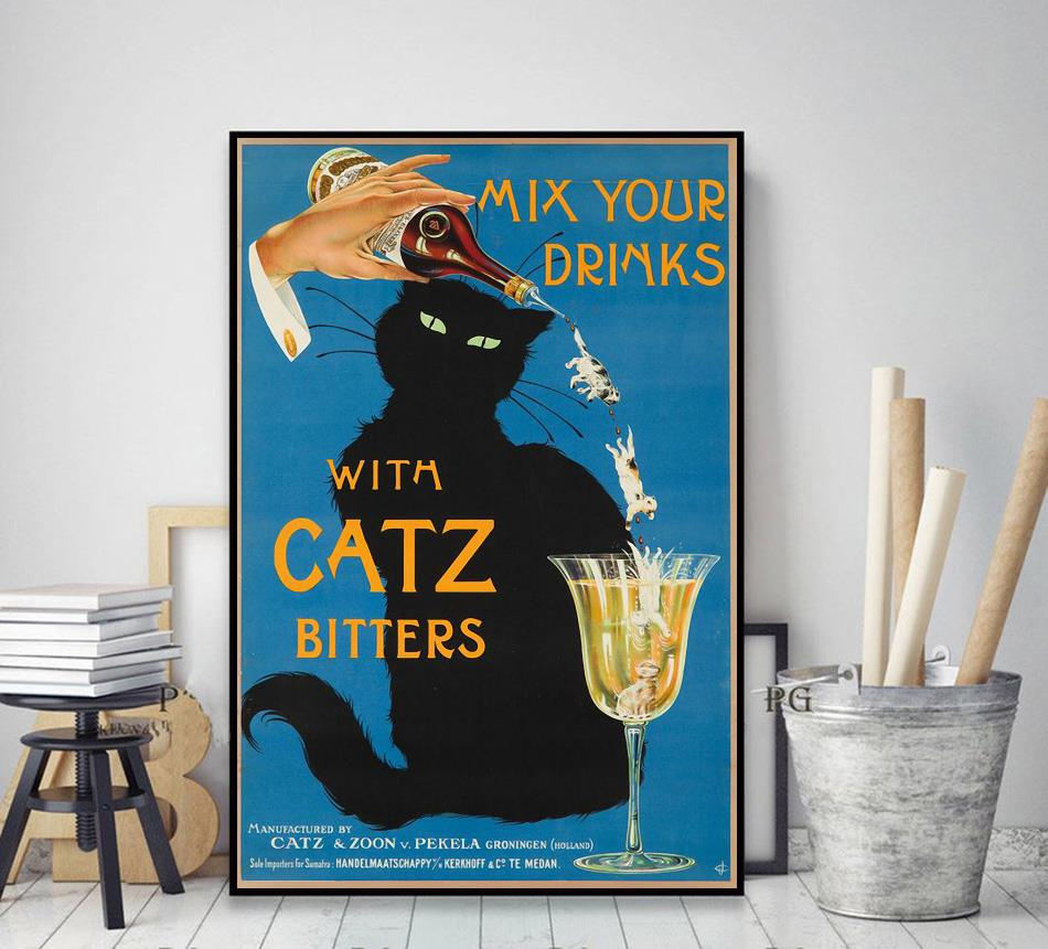 Mix your gin with catz bitters wrapped canvas