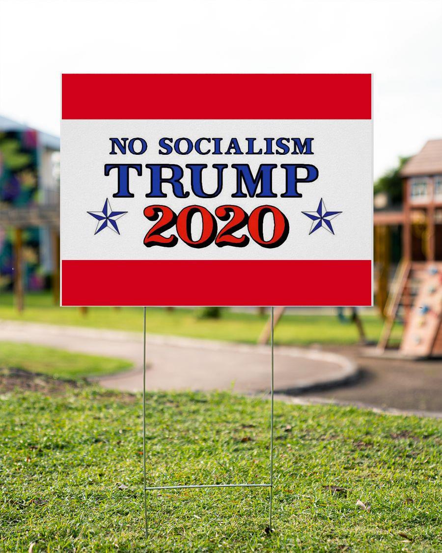No Socialism vote Trump 2020 yard sign garden