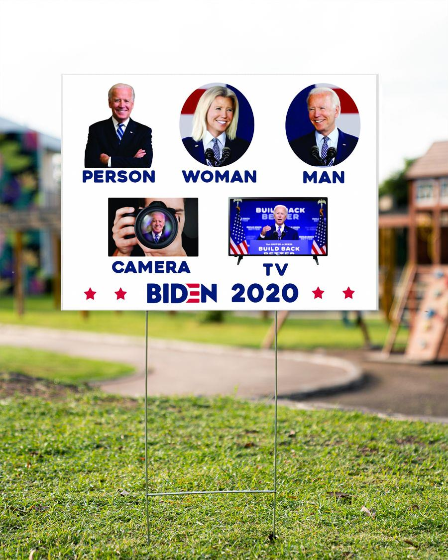 Political Campaign Yard Sign Anti Trump Biden 2020 garden