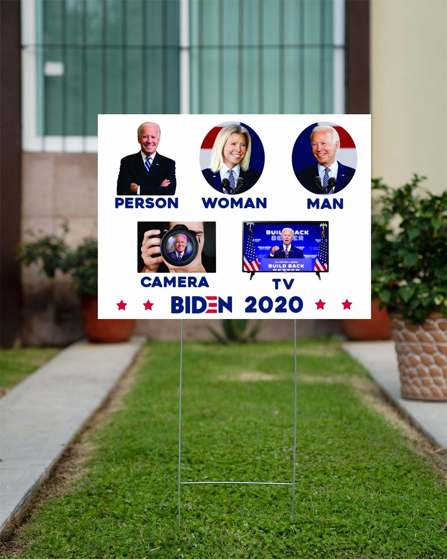Political Campaign Yard Sign Anti Trump Biden 2020