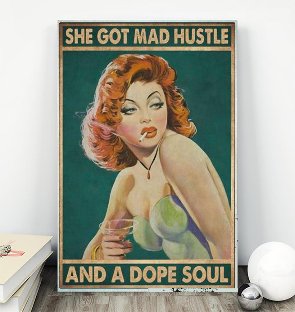 She got mad hustle and a dope soul redhead girl poster wall