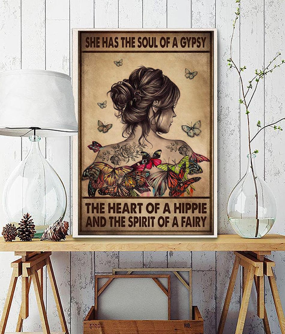 She has the soul of a gypsy the heart of a hippie and the spirit of a fairy canvas