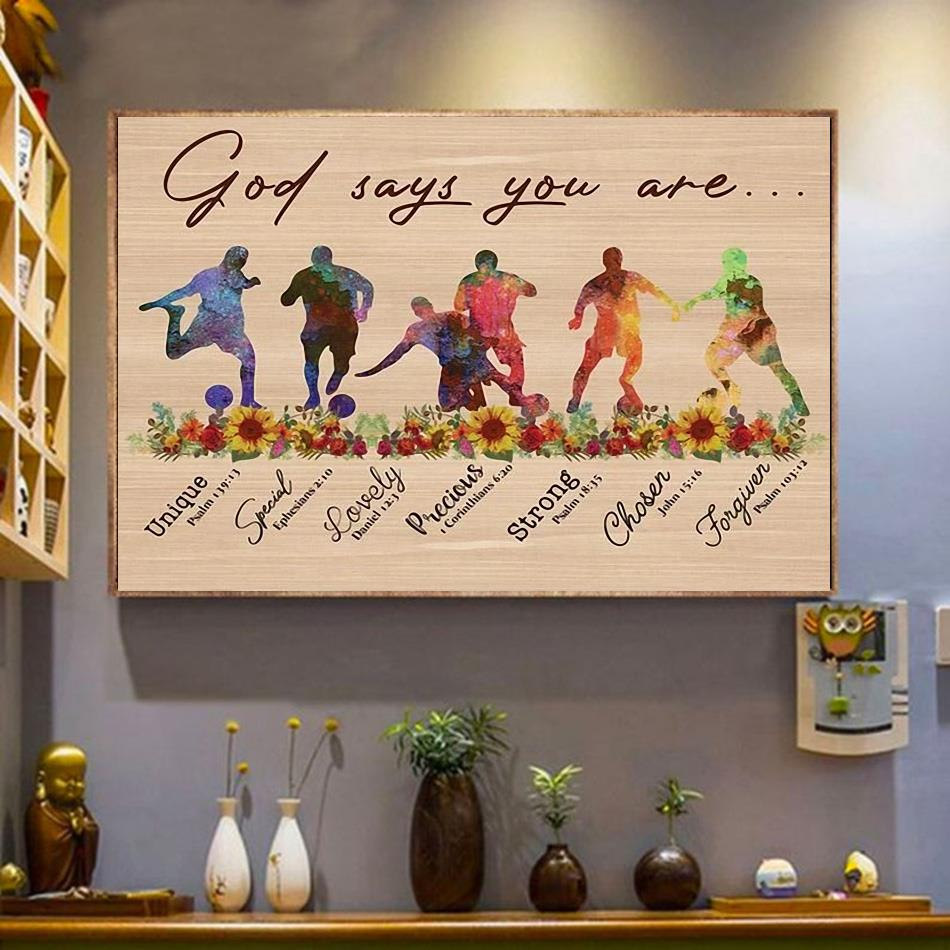 Soccer God says you are horizontal canvas wrapped canvas
