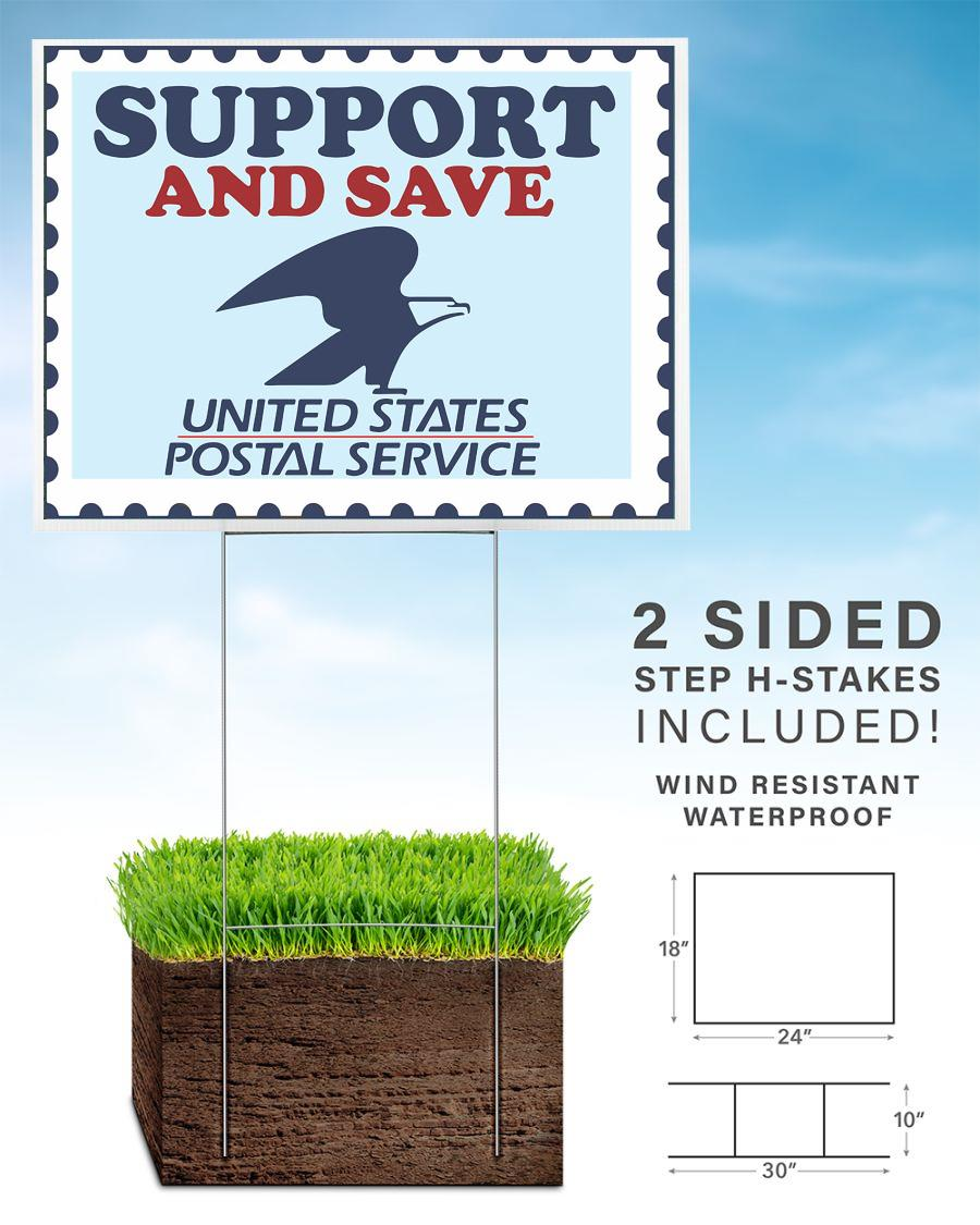 Support and save The Postal Service yard sign home