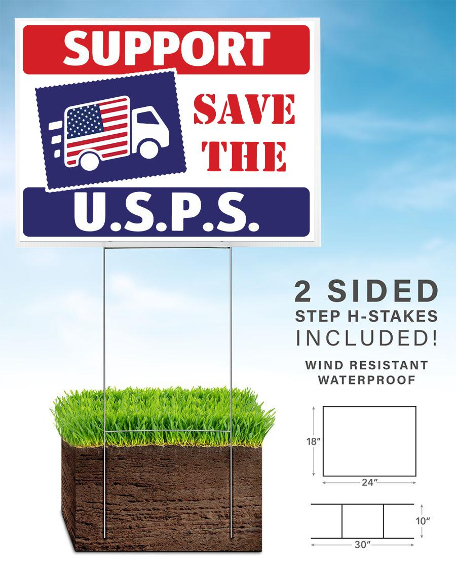 Support The Postal Service USPS yard sign home