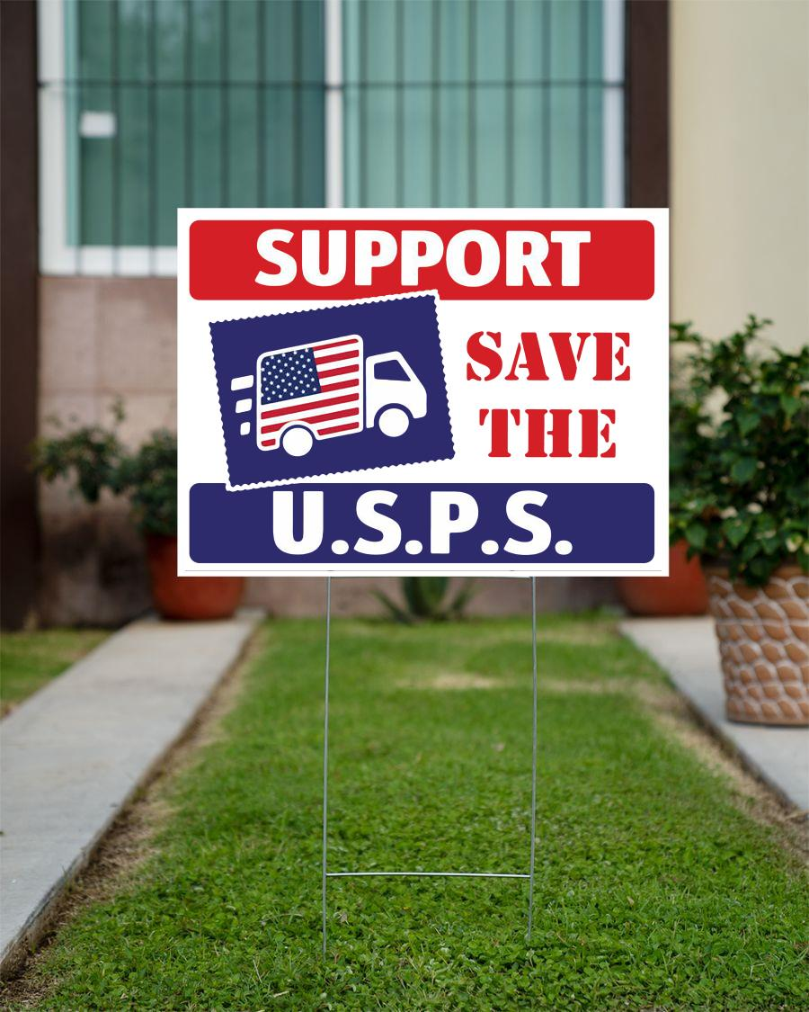Support The Postal Service USPS yard sign
