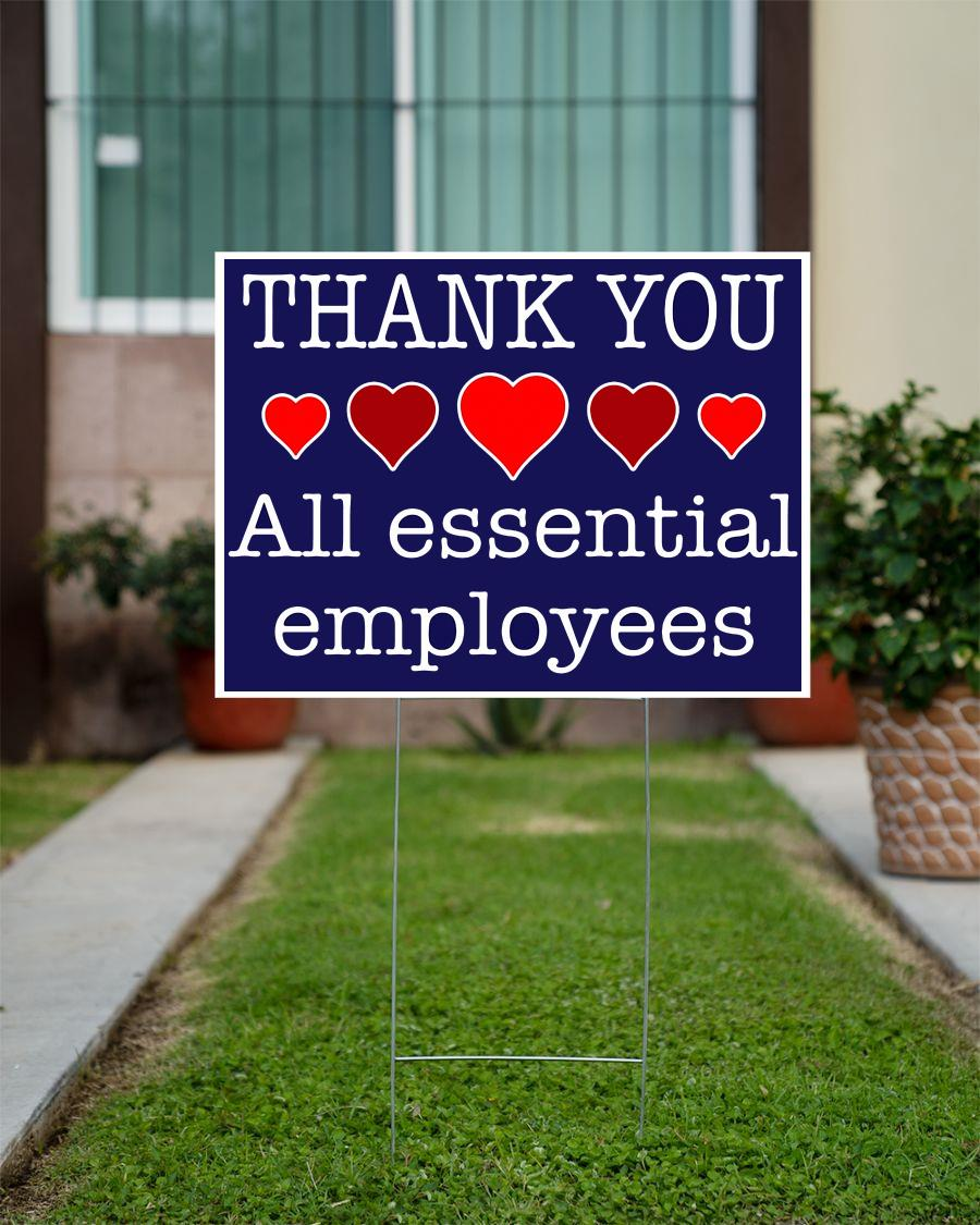 Thank You all essential employees yard side