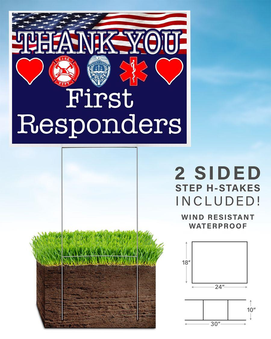 Thank You First Responders yard side home