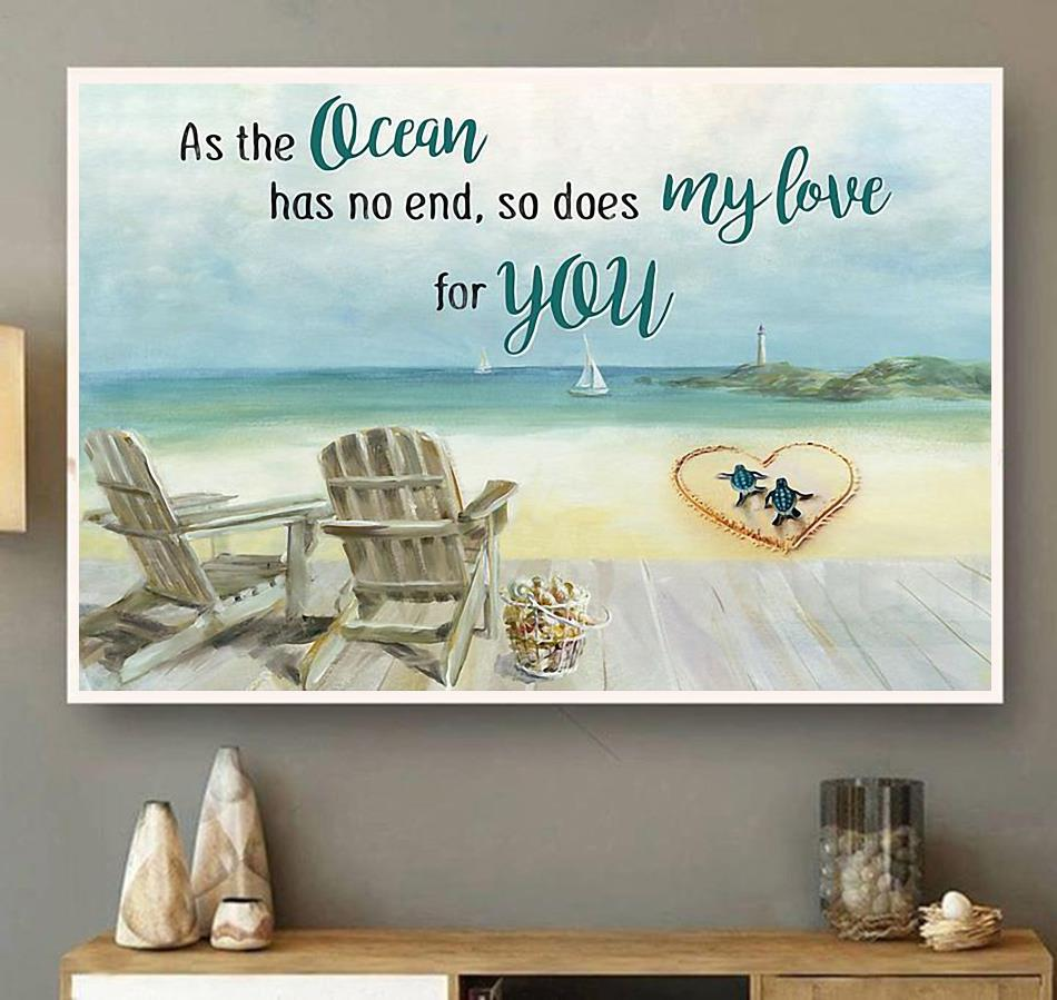 Tuttle as the ocean has no end poster wall art