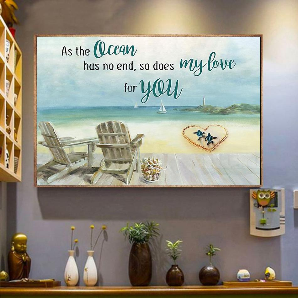 Tuttle as the ocean has no end poster wrapped canvas