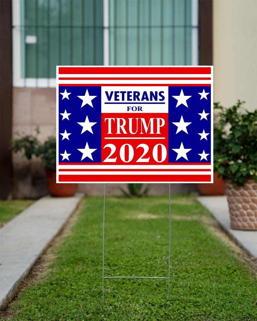 Veterans for Trump 2020 Yard Sign