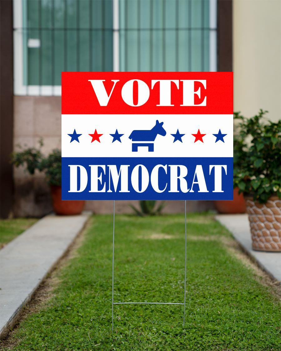Vote Democrat Stars yard sign